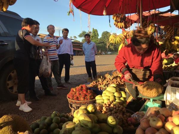 考察水果市场
