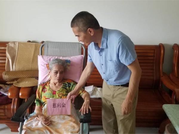 梁声侃副所长慰问陈国清