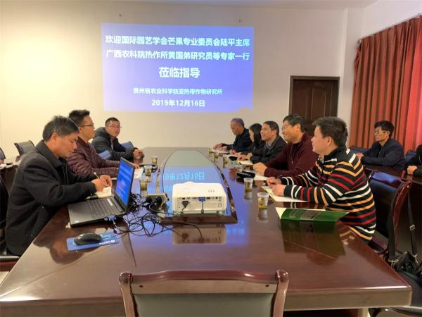陆平教授在贵州热作所与我所及贵州热作所芒果研究团队进行学术交流