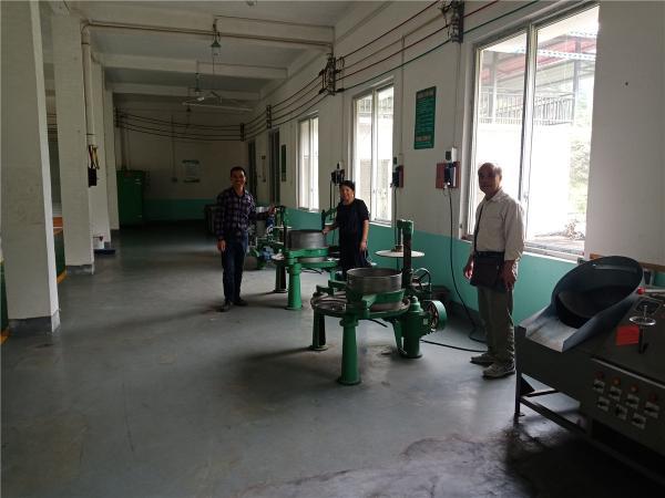 在安太乡江竹村茶叶加工厂指导